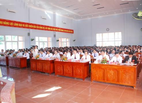 Toàn cảnh Đại hội Đảng bộ huyện Hải Lăng lần thứ XIV.
