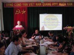 Ban Tuyên giáo tỉnh ủy Cao Bằng tổ chức Hội thảo nâng cao chất lượng công tác tuyên giáo. Ảnh www.caobang.gov.vn