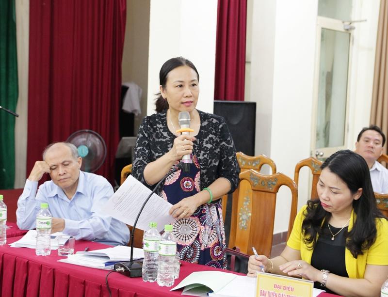 Đồng chí Nguyễn Thị Phương Hoa:Tổng kết 10 năm thực hiện Quy định 185 theo tinh thần phát huy vai trò của cấp ủy cấp huyện.